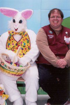 The Easter Bunny and Ben Schumin