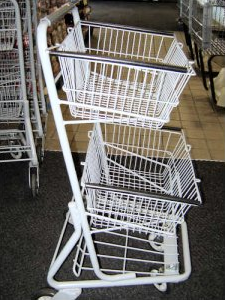 Two-tiered shopping cart