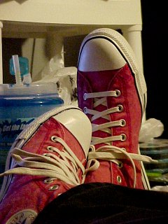 New red Chuck Taylors
