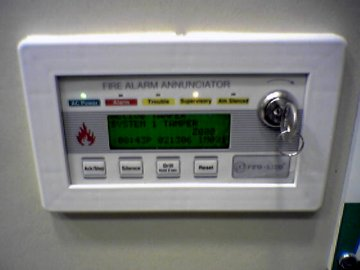 Notice anything wrong with this photo of the fire alarm annunciator?