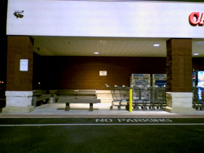Employee smoking area at the Martin's in Staunton... right next to the propane tanks.