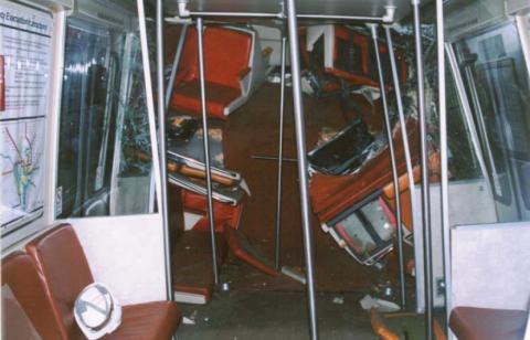 Rohr 1077 interior, post-collision