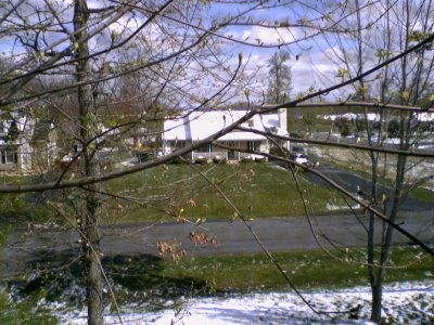 Snow in the neighborhood in April