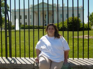 Katie in front of the White House