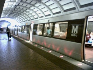 Metro has changed the lights on the lower level platform at Fort Totten from white lights to red lights, like those at Gallery Pl-Chinatown. Personally, I don't mind the red lights as much, but I don't think the difference is big enough when the red LEDs are blinking. I think Metro needs to tinker with the settings on the lights so that they blink on and off, vs. half and full. A full on-off blink would do the trick.