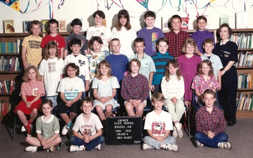 Mrs. Maidt's fourth grade class, 1990-1991