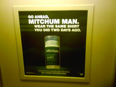 Mitchum ad on the Metro