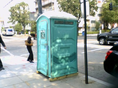 Portable toilet at 17th and P