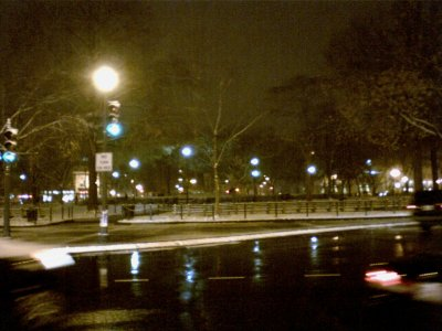 And this is after work, at Dupont Circle on the way back to the Metro. Certainly made for a slippery walk back to the Metro in the evening.