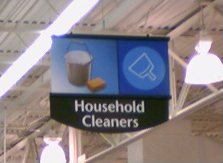 Wal-Mart department sign