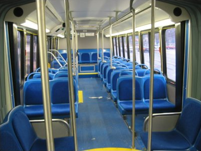 Similar seats on WMATA Neoplan bus