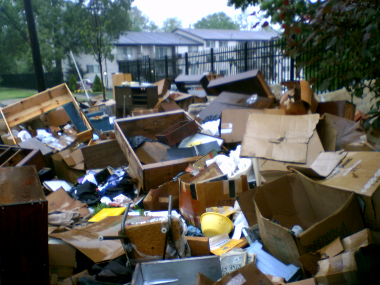 furniture pile in the morning - The Dump Furniture Store