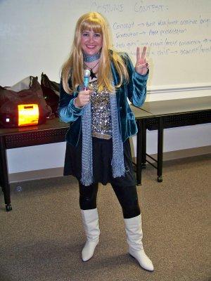Erin as Hannah Montana