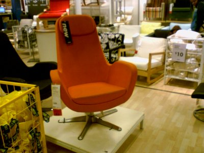 """Captain's Chair"" at IKEA"