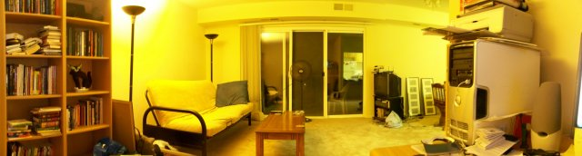 My living room, facing the balcony door