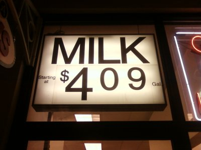 Price of milk at the CVS in Aspen Hill