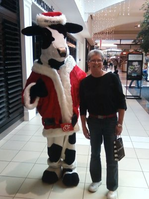 Mom with Mr. Moo Cow