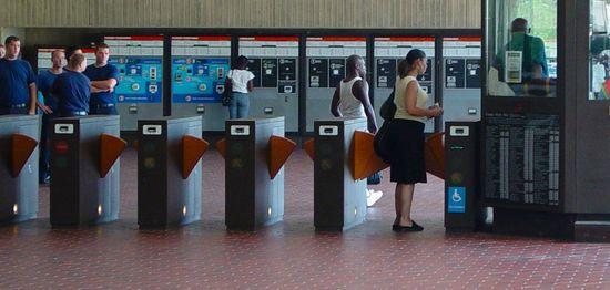 Farecard machines at Largo Town Center, August 1, 2006
