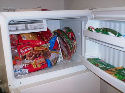 Test photo, showing the inside of my freezer