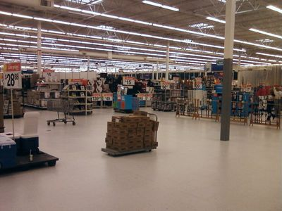 I find it amusing because this big section of the store is so empty. Don't see that very often...