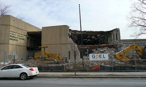 Demolition of the Watha T. Daniel Library