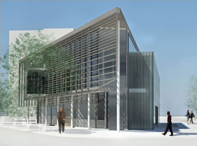 Rendering of the new Watha T. Daniel Library