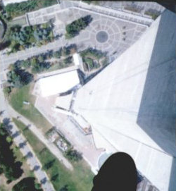 Glass floor at the CN Tower