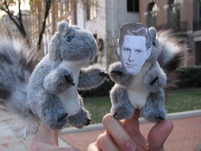 We had a pair of toy squirrels at the raid, one with David Miscavige's face on it.