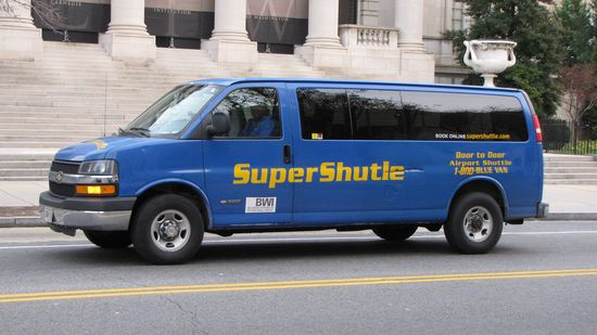 """SuperShutle"". I'm amazed no one noticed that before the public saw it..."
