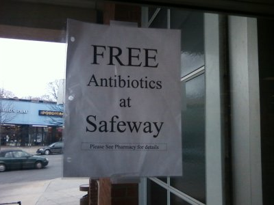 Free antibiotics at Safeway