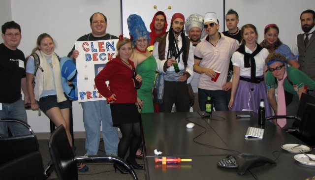 Halloween costumes at work in 2009