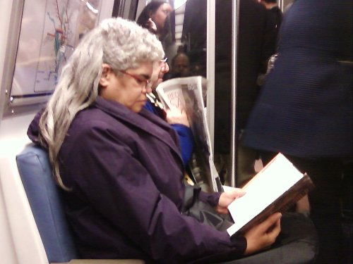 Mullet lady on the Metro