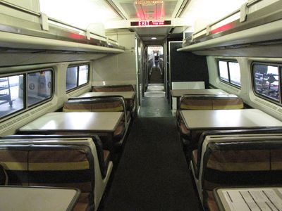 Amfleet dining car. This is more like how the Superliner dining cars looked when Mom and I traveled.