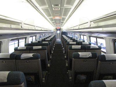 Amfleet passenger coach.