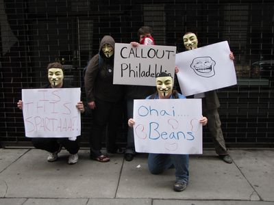 "We also took a moment to raid outside the ""other"" Org in Philadelphia, which closed during the past year."
