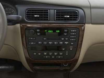 The radio and climate control panel on a Mercury Sable