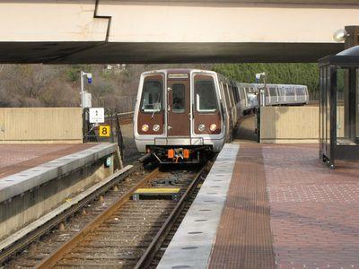Same train, departing on center track.