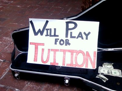 """Will play for tuition"""
