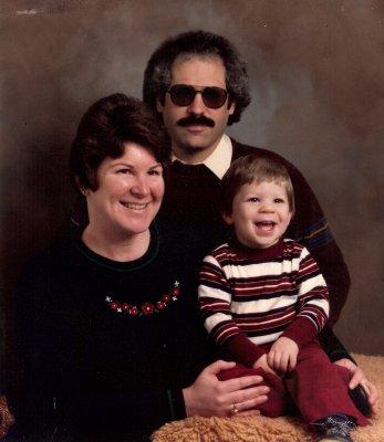 Family portrait, circa 1982 or 1983