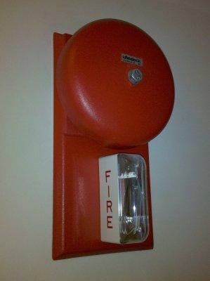 Wheelock bell and strobe at Fraser Mansion