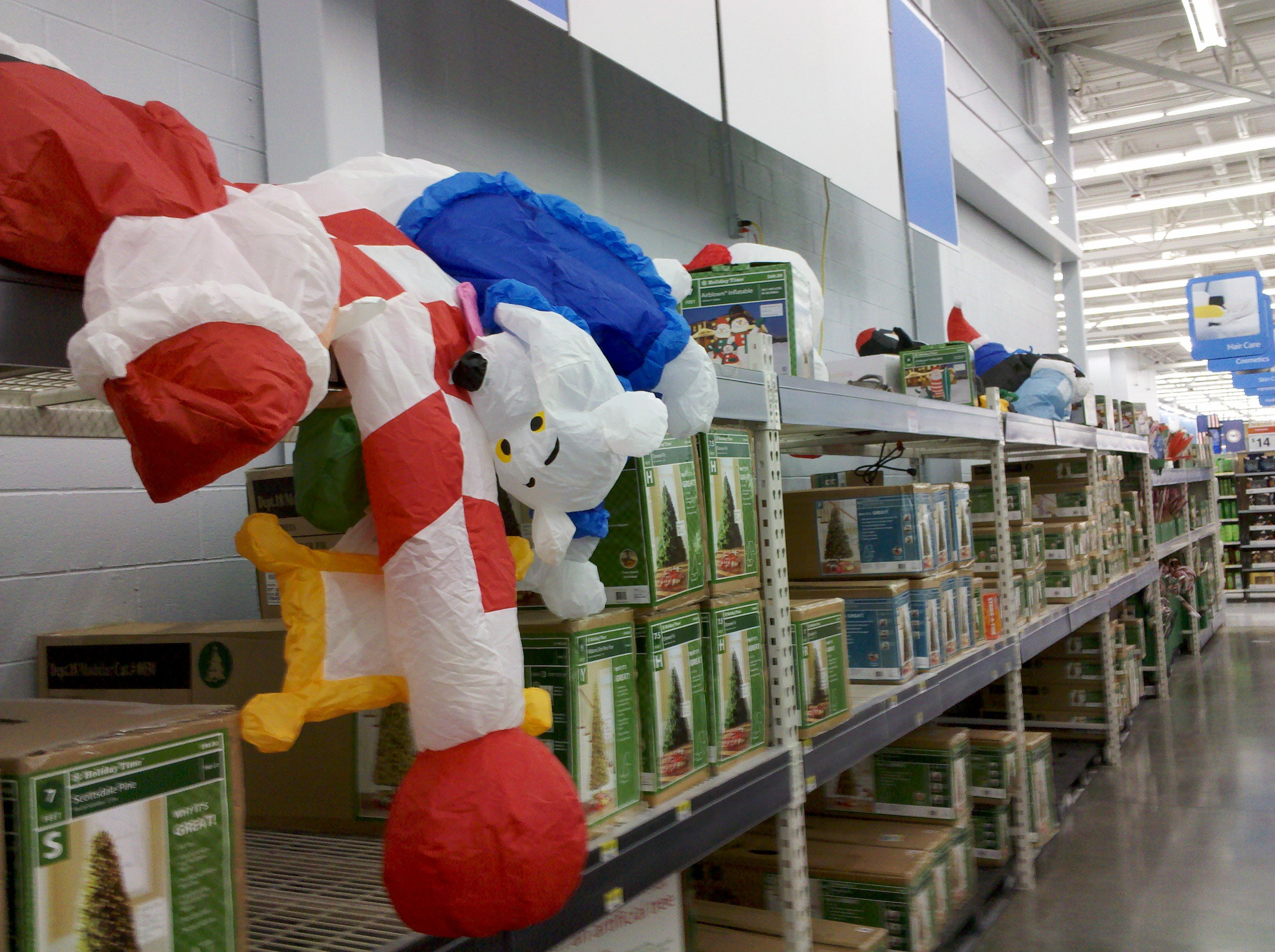 i killed the entire row of inflatables - Christmas Inflatables At Walmart
