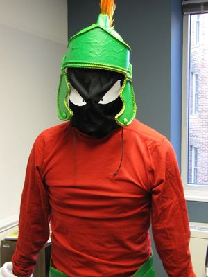 """This makes me very angry! Very angry, indeed!"" Great Marvin the Martian costume, that's for sure."