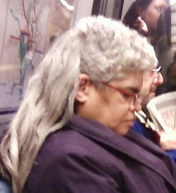 The Metro mullet lady