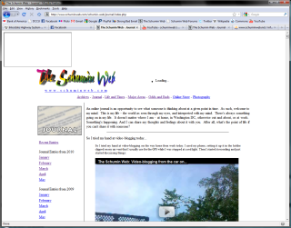 Old version of Schumin Web with CSS disabled