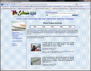 Photo Feature Archives, old site build