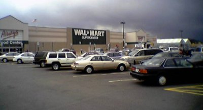 Walmart in Waynesboro, as it looked when I worked there