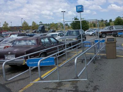 The new cart corrals
