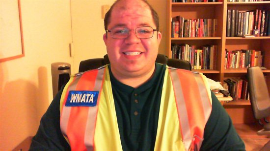 Wearing my WMATA vest