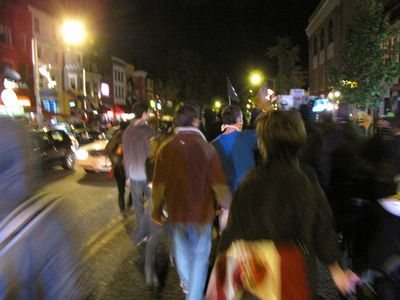 Marching south on 18th Street NW through Adams Morgan