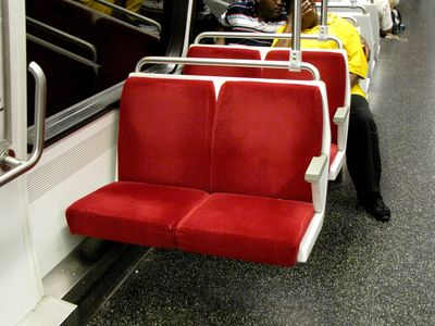 Red wool seats